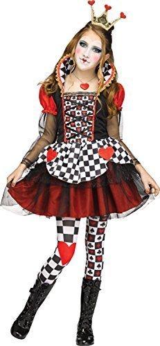 Fancy Me Mädchen Teen Roten Herzen Queen TV Buch Film Wild Wunderland eracebeth Halloween Kostüm Kleid Outfit 7-14 Jahre - Rot, 7-9 years