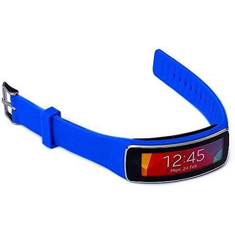Greatfine Correa de muneca para Galaxy Gear fit R350 SmartWatch accesorios de munequera para reemplazo de bandas de reloj (Dark