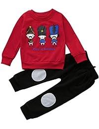 SMARTLADY 2-6 años Niño Niña Otoño/ Invierno Ropa Conjuntos,Sudaderas + Pantalones ,Personajes de dibujos animados Patrón