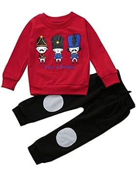 SMARTLADY 2-6 años Niño Niña Otoño/ Invierno Ropa Conjuntos,Sudaderas + Pantalones ,Personajes de dibujos animados...