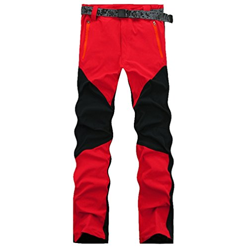 YiLianDa Pantalones de Trekking Hombre Pantalones de Softshell Pantalones de Montaña Impermeables Resistente al Viento Transpirable de Escalada