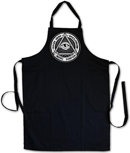 "ILLUMINATI EYE ""J"" TABLIER DE CUISINE APRON CUISSON GRIL BBQ BARBEQUE– Society Auge Free Masons Lodge Illumiatus"