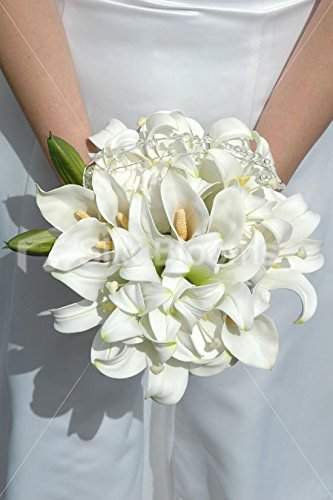 real-touch-cala-lily-crystal-bridesmaid-bouquet