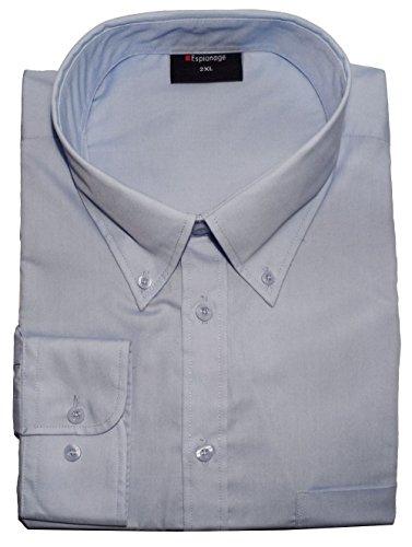 ESPIONAGE Baumwolle Langärmeliges Hemd Mit Geknöpfter Kragen (150) in den Größen 2XL to 8XL, 4 Farboptionen Lila
