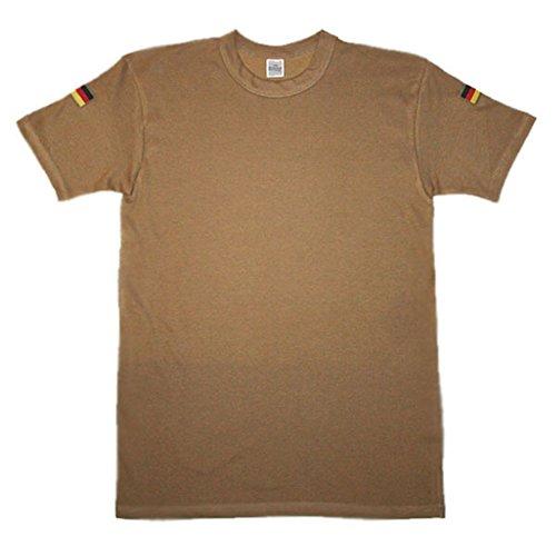 Original BW Tropen Shirt Bundeswehr Tropenhemd Unterhemd Auslandseinsatz ISAF KFOR Hoheitsabzeichen Ärmel Fahne Flagge KSK #14230, Größe:XL, Farbe:Sand