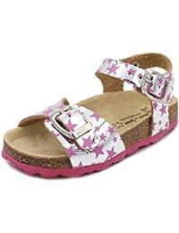 eab0c39cffb Amazon.es  Plateado - Sandalias y chanclas   Zapatos para niña ...