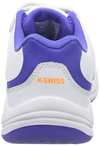 K-Swiss Performance Ultrascendor Omni Strap Jr, Chaussures de Tennis Mixte Enfant Blanc - Weiß (WHITE/ELECTRICBLUE/ORANGE)