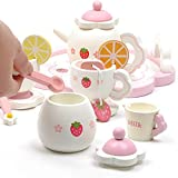 iBaste Tee-Set-Spielhaus der hölzernen Erdbeer-Nachmittagstee-Kinderhaus