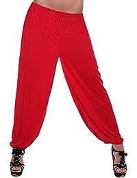 Damen Stretch Fitness Pumphose Sport Aladin Harem Pluder Hose 10 Farben Onesize 34 S - 44 XL