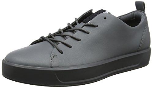 Ecco Herren Soft 8 Men's Sneaker, Grau (Titanium), ...