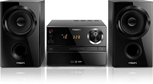 Philips btim 1360 micro sistema hi-fi, lettore cd, compatibile bluetooth, supporto mp3, nero