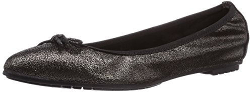 Tamaris - 22127, Ballerine Donna Nero (Schwarz (Black Metallic 011))
