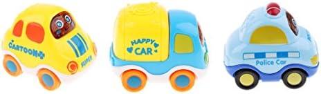D DOLITY Mini Jouet Interactif Mini Voiture Jouet Tirer vers L'arrière pour  s Garçons Bébé | à L'aise