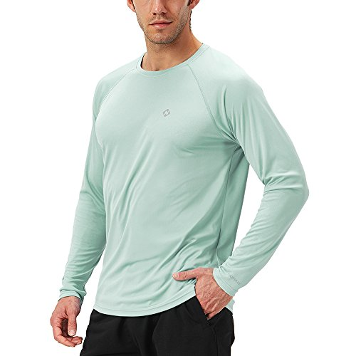 Tage Long Sleeve Raglan T-shirt (Naviskin Herren Sonnenschutz UPF 50 + UV-Outdoor Long Sleeve T-Shirt, Herren, lichtgrün, Medium)