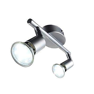 LED Deckenleuchte Schwenkbar Inkl. 2 x 3W Leuchtmittel 230V GU10 IP20 LED Deckenlampe LED Deckenstrahler LED Lampe LED Leuchte LED Deckenspot Wohnzimmerleuchte Deckenleuchte Schlafzimmerleuchte Spot LED Leuchte Modern Wand Kinderzimmer Lampe 230v Volt War