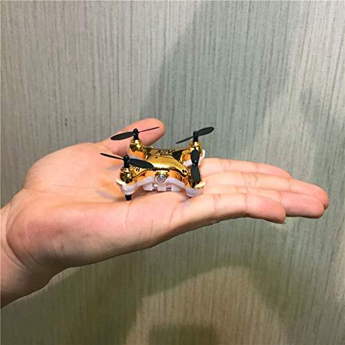 Ycco Super Mini Micro Nano Quadcopter RC Nuovo duraturo UFO Drone con Fotocamera E LUCI LED 2.4G Canale 3D Gyro Axis Stunt Spin Flip (Solo 5cm x 2.5cm) ( Color : Yellow. )