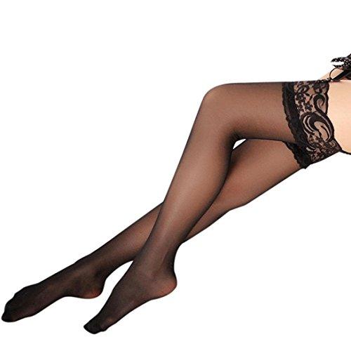 Neue Frauen Schenkel Hohe Silk Strümpfe Reizvolle Reparatur Bein Show Dünne Silk Strümpfe (Schwarz, Einheitsgröße) (Billig Heißen Halloween-kostüme)