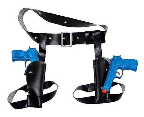 Bristol Novelty BA481 Thigh Twin Holster Gun Set, Blue, One