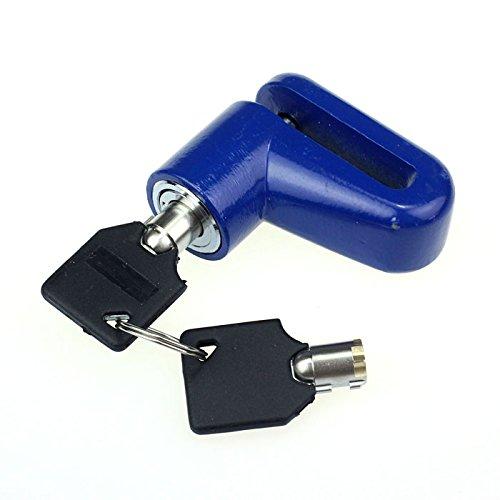 Ducomi® SafeMoto - Motorradschloss Diebstahlsicherung, Blockiert die Scheibenbremse, Robust und Sicher - Motorrad, Fahrrad, Mountainbike und Motorroller (Blau)