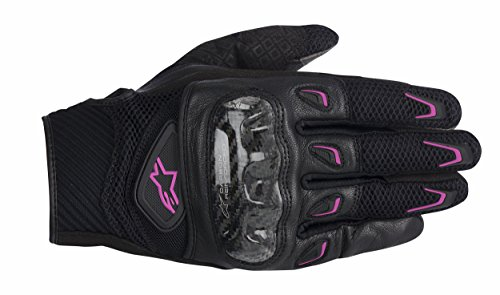 Alpinestars Stella S-MX 2 Luft Kohlefaser Damen Motorrad Handschuhe schwarz & Fuchsie neu - M
