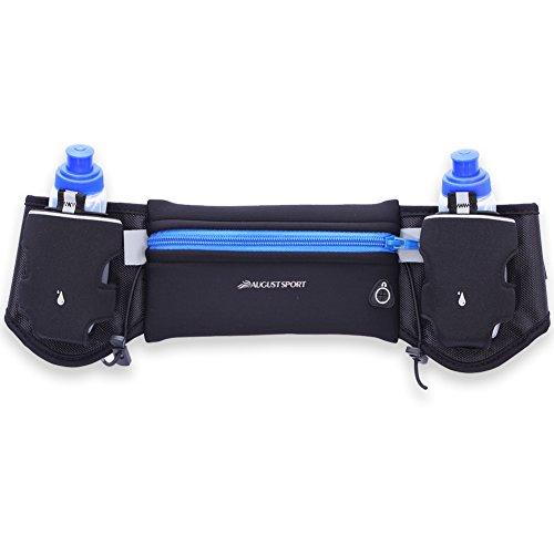 IKuaFly Hydration Running Belt 2 Water Bottle Waterproof Waist Pack for Iphone 6 Plus Marathon Sports Gear