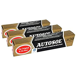 Autosol 3pk Metal Polish (75ml x3) For Chrome Aluminium Stainless Steel Brass Copper etc