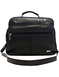 Trabajo Funda de imitación de piel cubierta de hombro maletín vuelo compañero bolso business Messenger Bag Funda Black nuevo