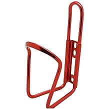 Portabidon Porta Bidon para Cuadro de Bicicleta en Aluminio Bici Ciclismo Color Rojo Metalizado 2718rj