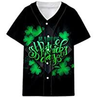 Camiseta del día de San Patricio Cebbay Manga Corta Unisex Personalidad Impresión 3D(Negro, Blanco, Verde, Amarillo, S/M/L/XL/XXL/XXXL/XXXXL)