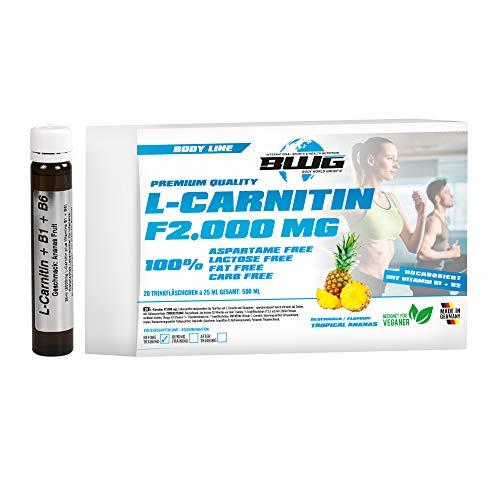 2000 Boot (BWG L-Carnitin F 2000 mg, hochdosiertes L-Carnitin Liquid, vegan, ohne Gluten und Laktose, Body Line, 20 Trinkfläschchen a' 25 ml (500 ml Packung))