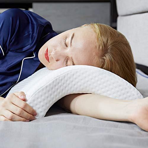 Lucoss Almohada Cervical, Almohadas para Cuello,Almohada de Dormir Lateral para Brazo Relajante,Anti-presión...