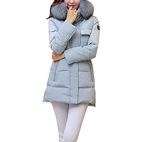 SaiDeng Abrigo De Invierno Con Capucha Para Esquí Senderismo Acampada Para Mujer Ligero Térmico