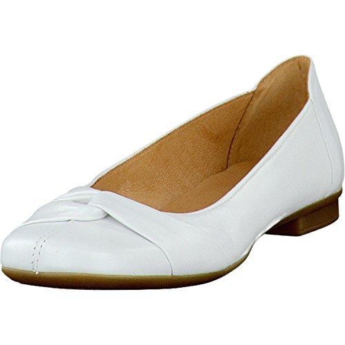 Gabor Damenschuhe Fashion 04.111.21 Damen Ballerinas mit gratis Gabor Socken weiss, EU 40