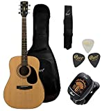 Cort AD810 Dreadnought Acoustic Guitar with Gig Bag,Tuner,Picks and Strap