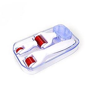 Uskincare Dermaroller 4 in 1 (0.5mm+1.0mm+1.5mm) & Dedizierter Desinfektionsbehälter+kostenlose Nutzung Führer -Ultimative Therapie zur Reduzierung von Dehnungsstreifen, Falten, Akne-Narben