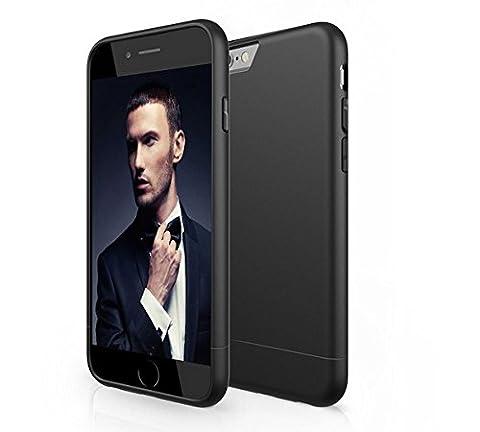 IPhone 8 / 7 PLUS Hülle - Schwarz Matte iPhone Schutzülle Snap Case (Kratz- und Stoßfest) Elegantes Design Matt Schwarz von (Ss Muster)
