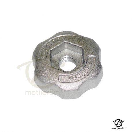 Ecrou de serrage pour tête débroussailleuse 2 fils nylon