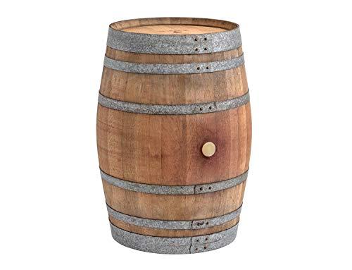 Temesso Stehtisch aus Weinfass, Dekofass, Gartentisch aus Holzfass - Fass unbehandelt Orig