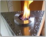 Edelstahl Tischfeuer Gloria Wasser und Feuer Säule - 3
