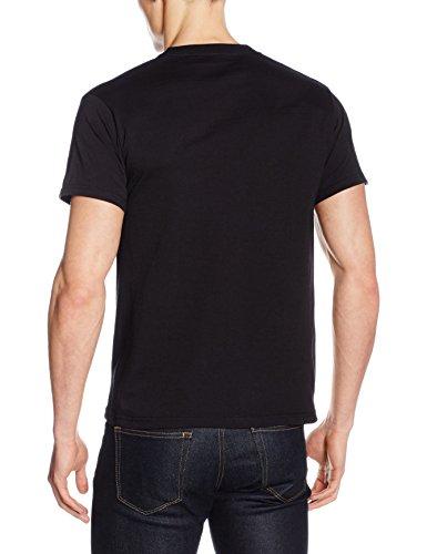 Fruit of the Loom Heavy Cotton Tee Shirt, T-Shirt Homme Noir (Schwarz)