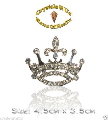 r 4,5cm Vintage Brosche Kristall (Kostüm Schmuck Broschen Uk)