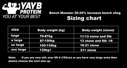YAYB-Protein-Bench-Monster-Bench-Press-Sling-20-increase-for-advanced-lifters-FREE-DELIVERY-boost-your-bench-strength-Superior-Designed-Reinforced-Stitching-Beats-All-Others-Power-lifting-Strength-Tra