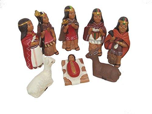 Discount ethnique – Crèche terre cuite Inca Set H.14 cm