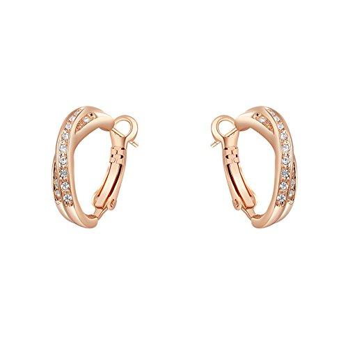 mujer-sencillo-moda-aleacion-cristal-austriaco-aretes-de-aro-chapado-en-oro-rosa