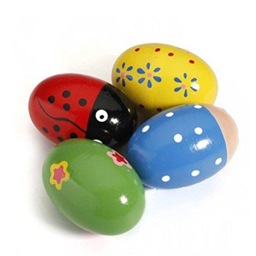 ULTNICE-Huevo-de-madera-de-4pcs-Maracas-Shakers-juguete-de-percusin-musical-para-nios-Color-aleatorio