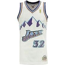 Mitchell & Ness CAMISETA NBA UTAH JAZZ KARL MALONE 32 (BLANCA)