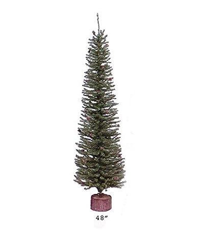 Vickerman Unlit Carmel Pine Cone Artificial Christmas Tree with Wood Base, 4
