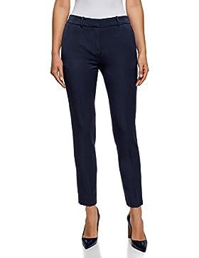 oodji Ultra Mujer Pantalones Clásicos con Bolsillos