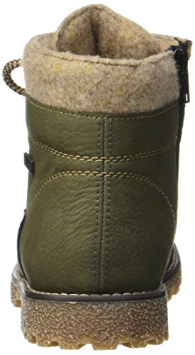 Rieker K1568, Stivali Combat Bambina Verde (Forest/wood/chestnut)