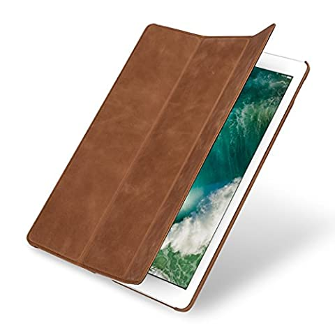 "StilGut Couverture Case, Apple iPad Pro 12.9"" 2017 Hülle aus feinstem Leder für Apple iPad Pro 12.9 2017, Cognac Vintage"